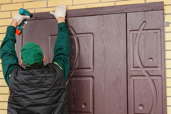 Установка металлических дверей своими руками