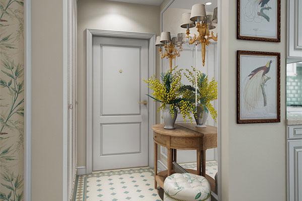 Белая межкомнатная дверь в английском стиле