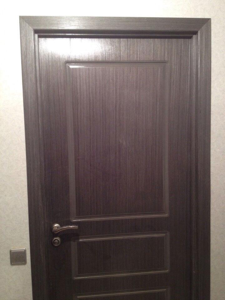 Межкомнатная шпонированная дверь Марсель 3 (глухая, венге)