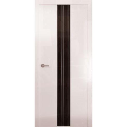Межкомнатная глянцевая дверь «Avorio-3 Черное» (со стеклом)
