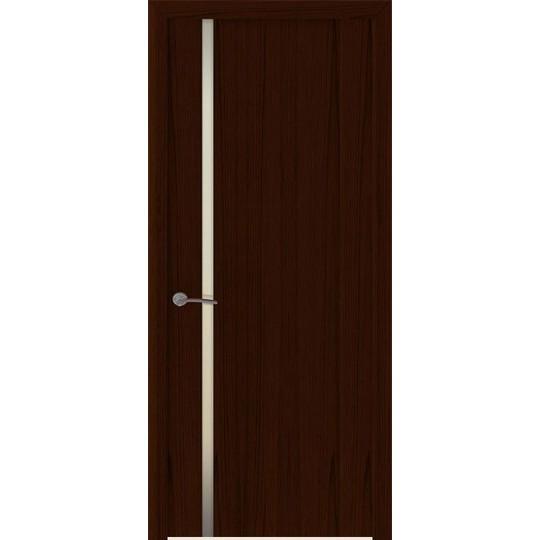 Межкомнатная шпонированная дверь «Шторм-1 Белый» (со стеклом)