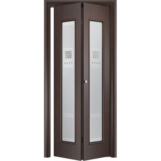 Складная дверь «книжка» C-21 Х Модерн (со стеклом)