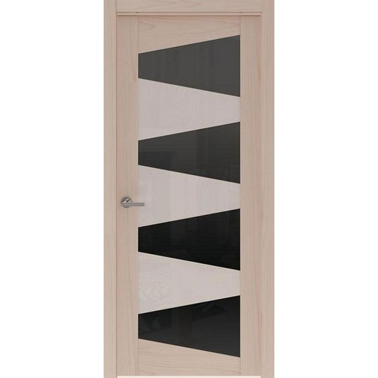 Межкомнатная шпонированная дверь «Rona-2 Черная» (со стеклом)