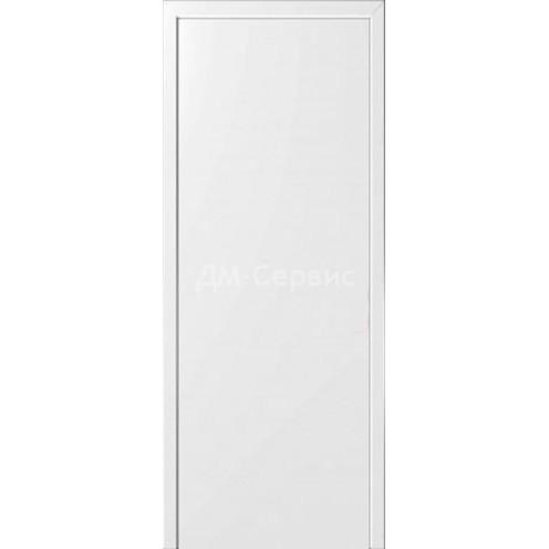 Межкомнатная пластиковая дверь CPL эконом класса (глухая) белая