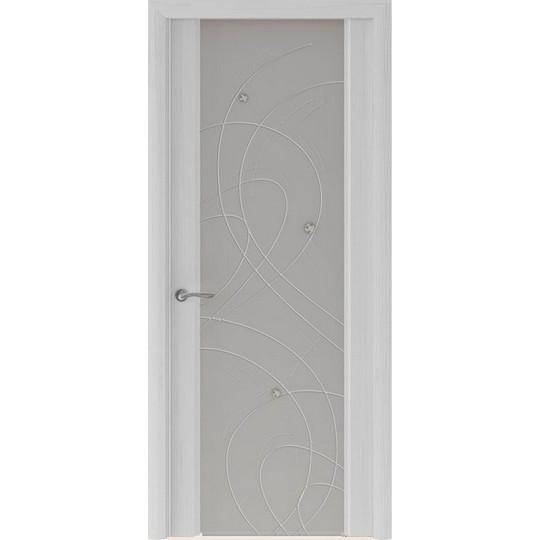 Межкомнатная шпонированная дверь «Murano-2 Матовое» (со стеклом)