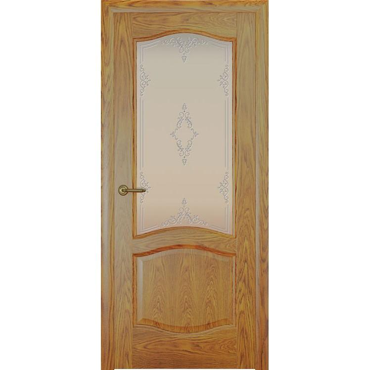Дверь с натуральным шпоном «София Ажур белый» (со стеклом)