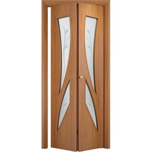 Складная дверь «книжка» C-2 Ф (со стеклом)