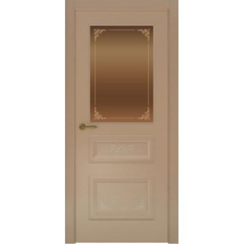 Межкомнатная дверь с эмалью «Flora 3 Бронза» (со стеклом)