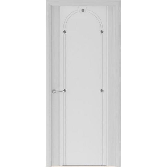 Межкомнатная шпонированная дверь «Murano-3 Белое» (со стеклом)