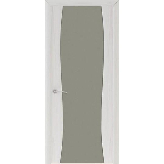 Межкомнатная шпонированная дверь «Буревестник-2 Матовый» (со стеклом)