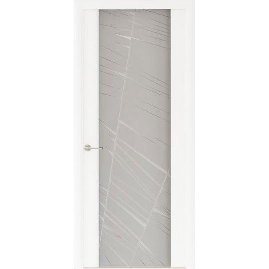 Межкомнатная шпонированная дверь «Capri-2 Матовое» (со стеклом)