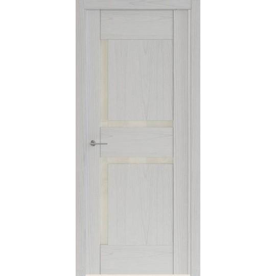 Межкомнатная шпонированная дверь «Rona-5 Белая» (со стеклом)