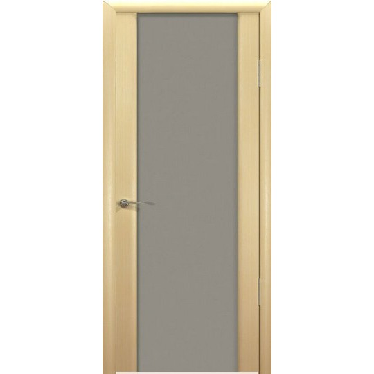 Межкомнатная шпонированная дверь «Шторм-3 Матовый» (со стеклом)