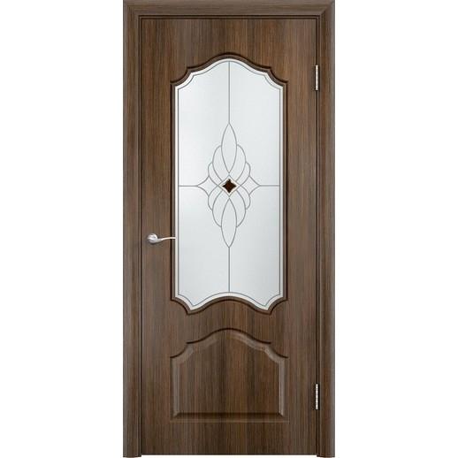 Межкомнатная дверь скин экошпон «Ирида ДО Ромб светлый» (со стеклом)