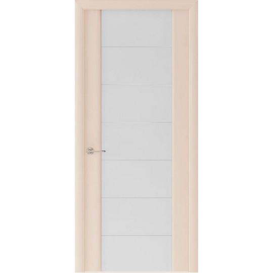 Межкомнатная шпонированная дверь «Capri-3 Белое» (со стеклом)