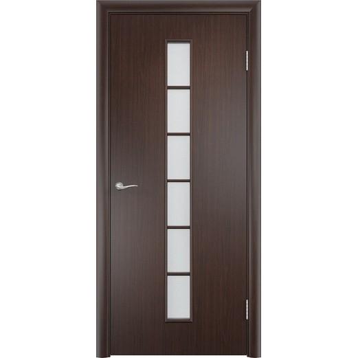 Межкомнатная ламинированная дверь «C-12 ДО» (со стеклом)