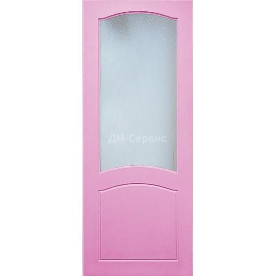 Крашенная дверь премиум класса «Классика» (под остекление)