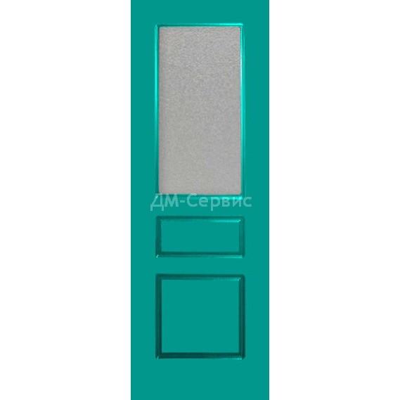 Крашенная дверь эконом класса «Марсель 3» (со стеклом)