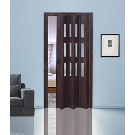 Складная дверь «гармошка» с витражами
