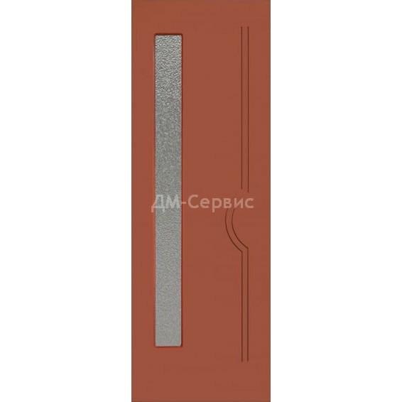 Крашенная дверь эконом класса «Молния» (со стеклом)