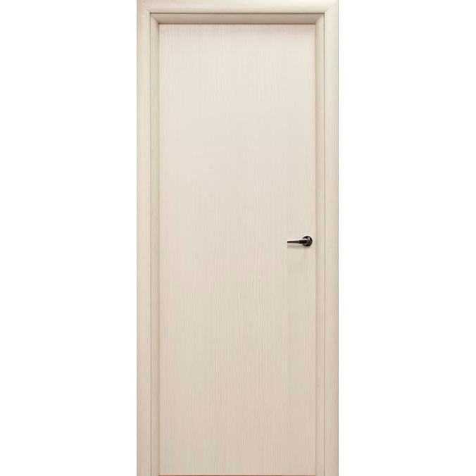 Межкомнатная дверь из вспененного ПВХ (глухая, беленый дуб)