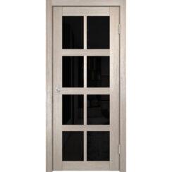 Межкомнатная дверь экошпон К-8 лакобель чёрное