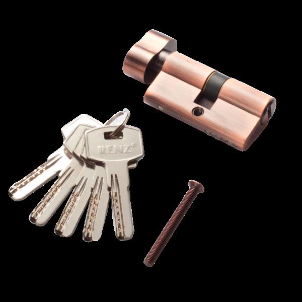 Личинка для замка RENZ перфорированный ключ/вертушка 60мм