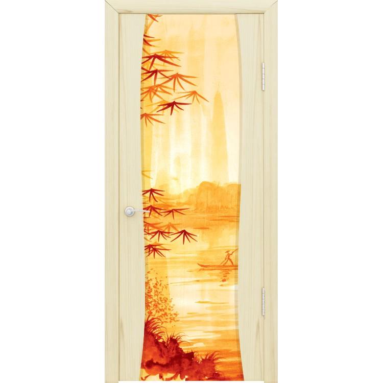 Межкомнатная шпонированная дверь «Буревестник-2 Аура» (со стеклом)