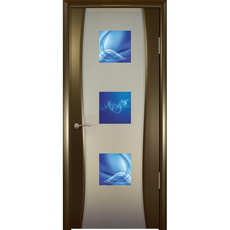 Межкомнатная шпонированная дверь «Буревестник-2 Космо» (со стеклом)