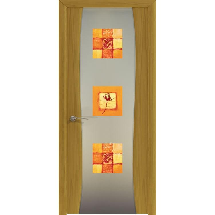 Межкомнатная шпонированная дверь «Буревестник-2 Квадро» (со стеклом)
