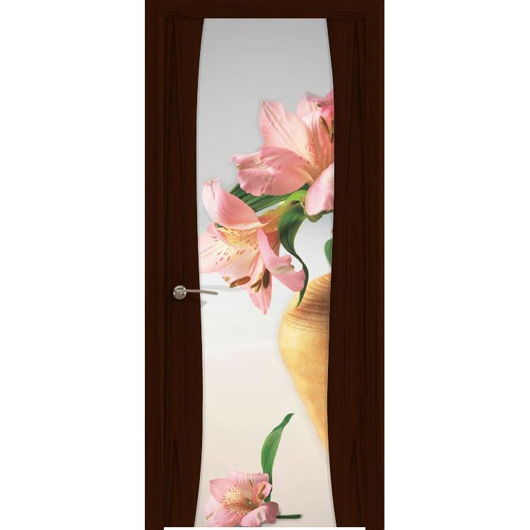 Межкомнатная шпонированная дверь «Буревестник-2 Лилия» (со стеклом)