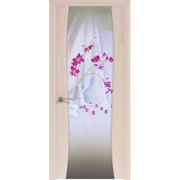 Межкомнатная шпонированная дверь «Буревестник-2 Solo» (со стеклом)