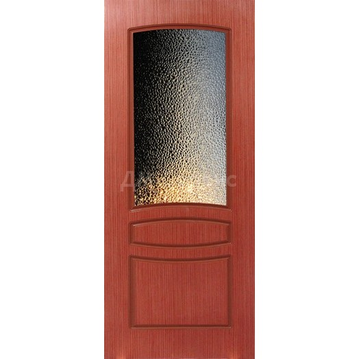 Шпонированная дверь Венеция (со стеклом, вишня)