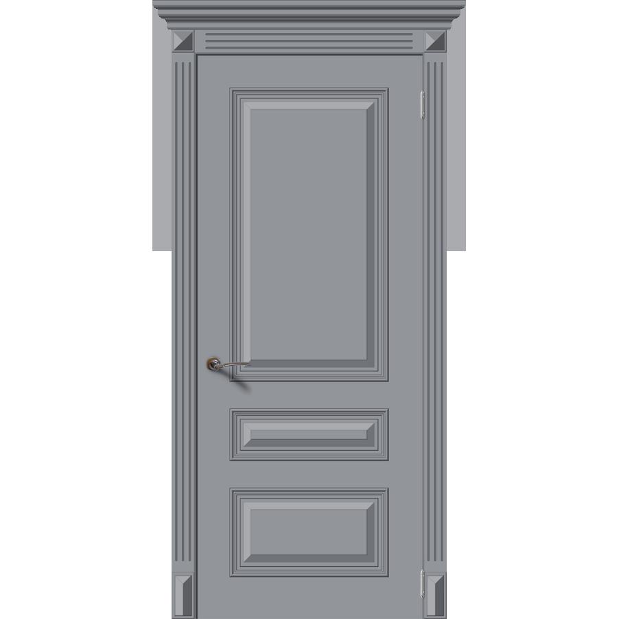 Межкомнатная дверь эмаль классика «Багет 3» (глухая)