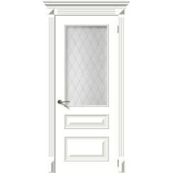 Межкомнатная дверь эмаль классика «Багет 3» (со стеклом)