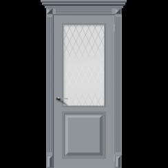 Межкомнатная дверь эмаль классика «Блюз» (со стеклом)