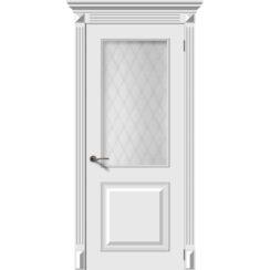 Межкомнатная дверь эмаль классика «Багет 2» со стеклом