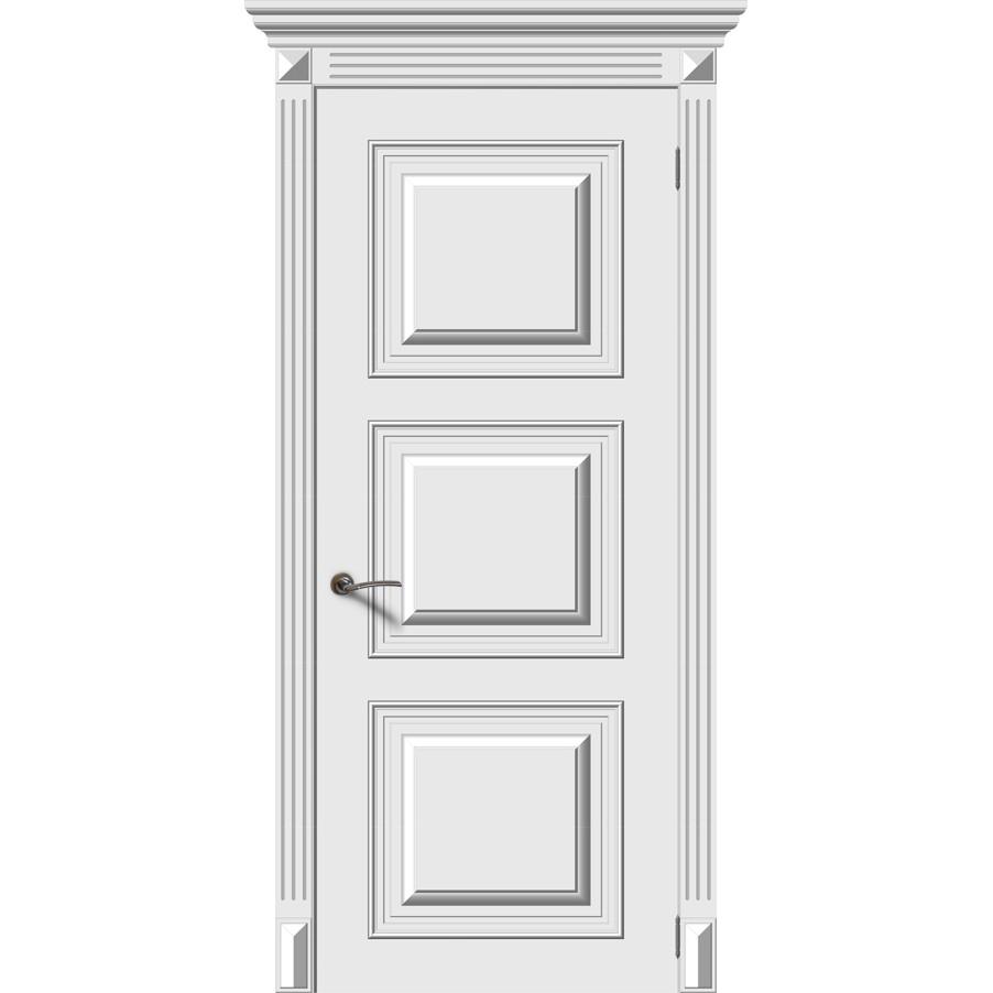 Межкомнатная дверь эмаль «Багет 1» (глухая)