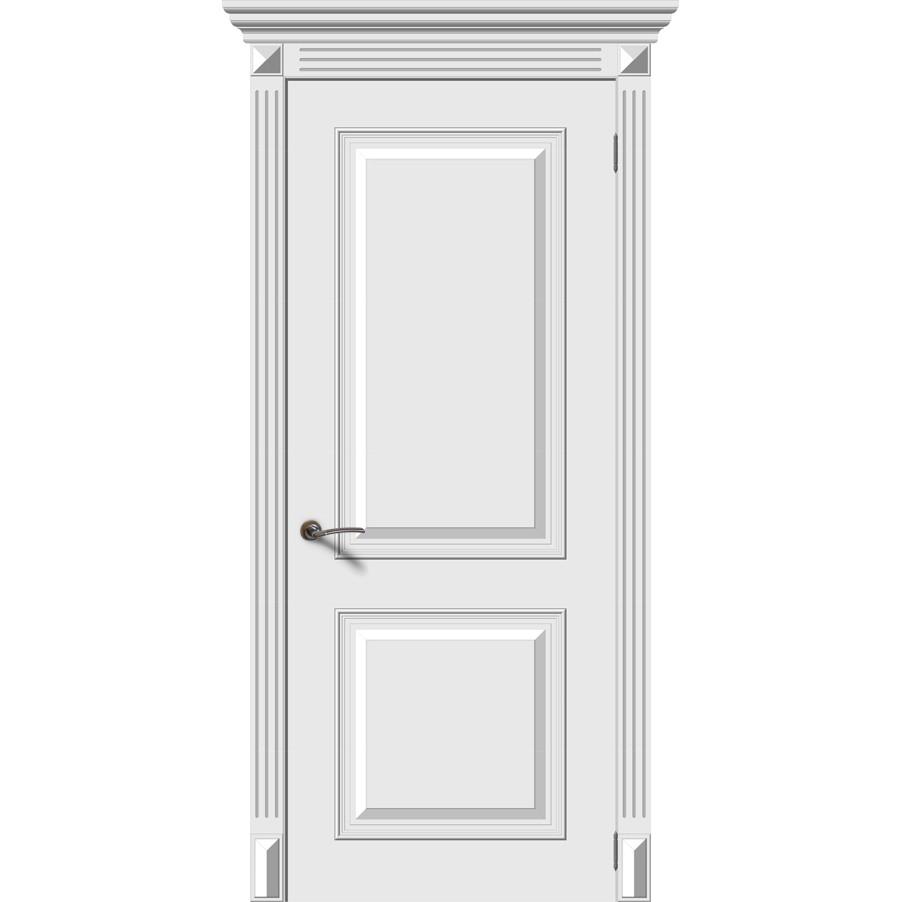 Межкомнатная дверь эмаль «Багет 2» (глухая)