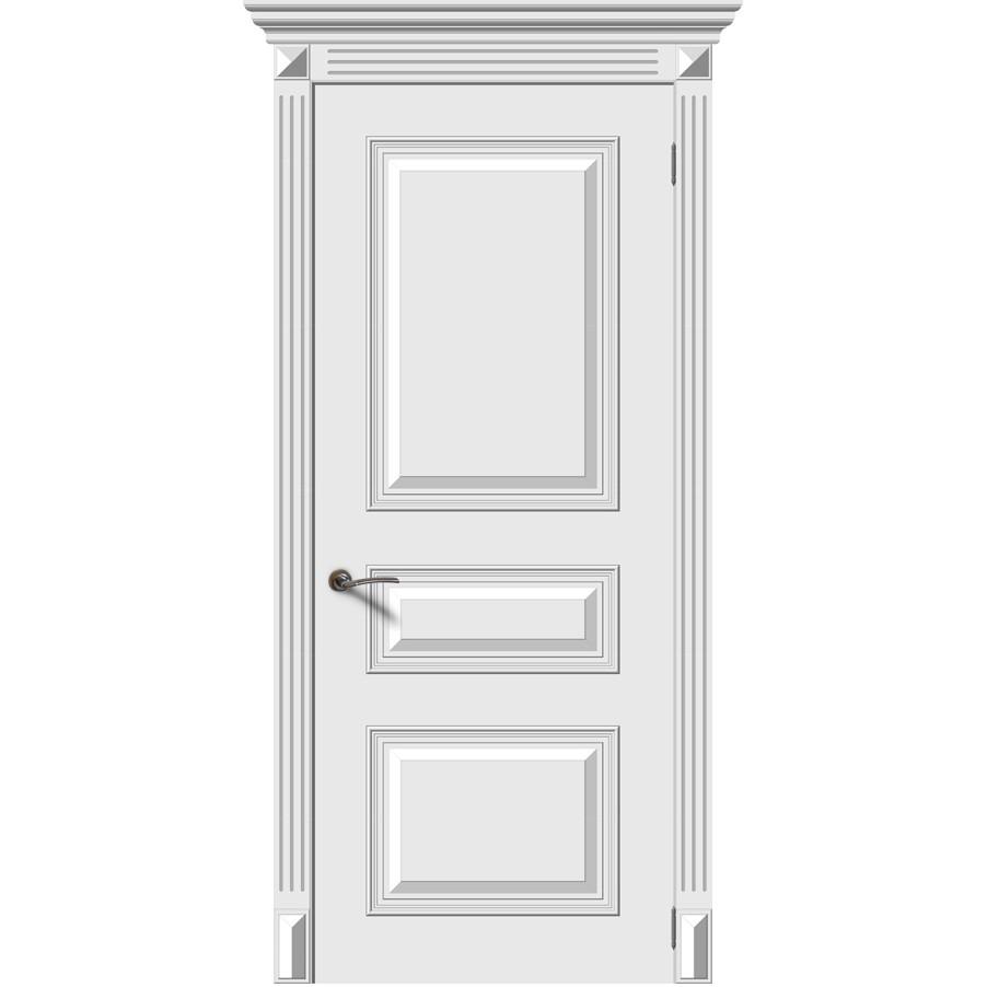 Межкомнатная дверь эмаль «Багет 3М» (глухая)