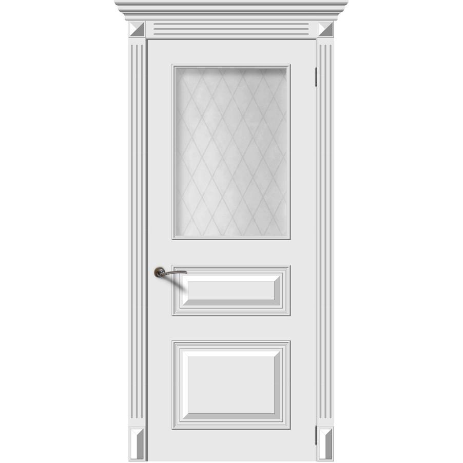 Дверь эмаль Багет 3М, со стеклом