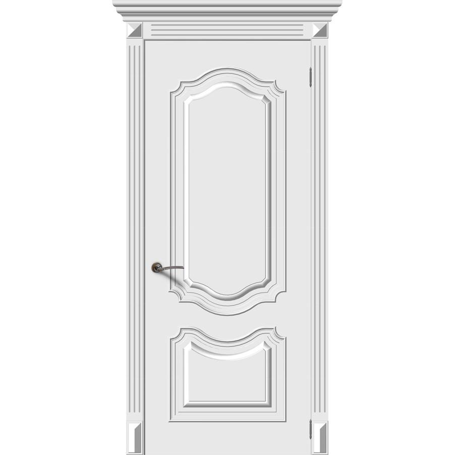 Межкомнатная дверь эмаль «Багет 4» (глухая)