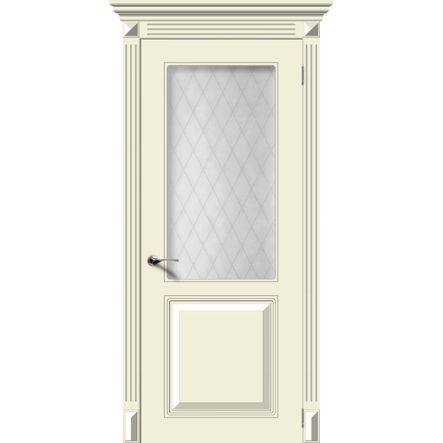 Дверь эмаль Блюз (крем), со стеклом