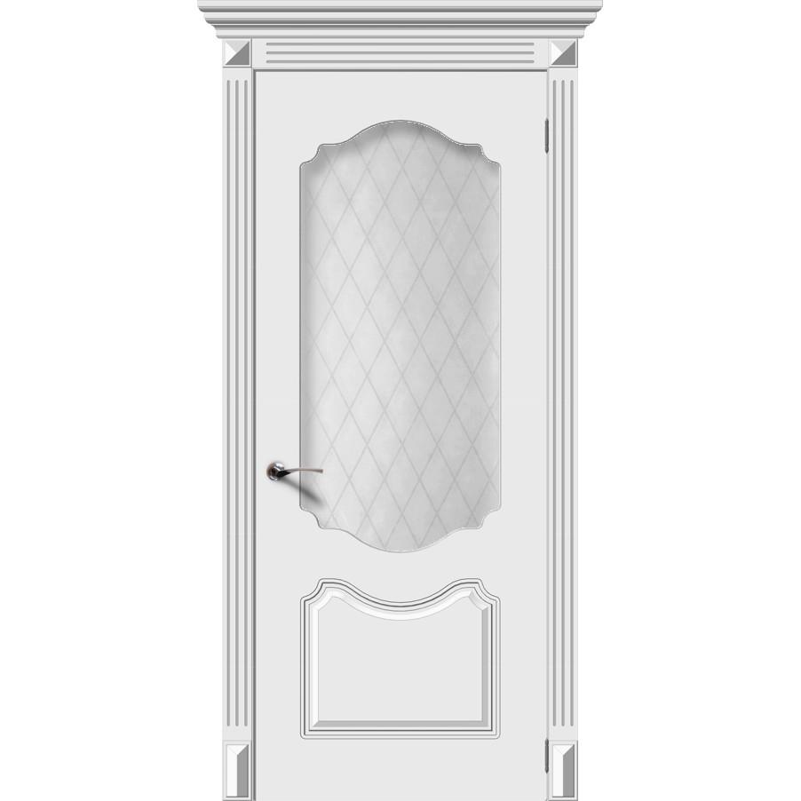 Дверь эмаль Фолк, со стеклом