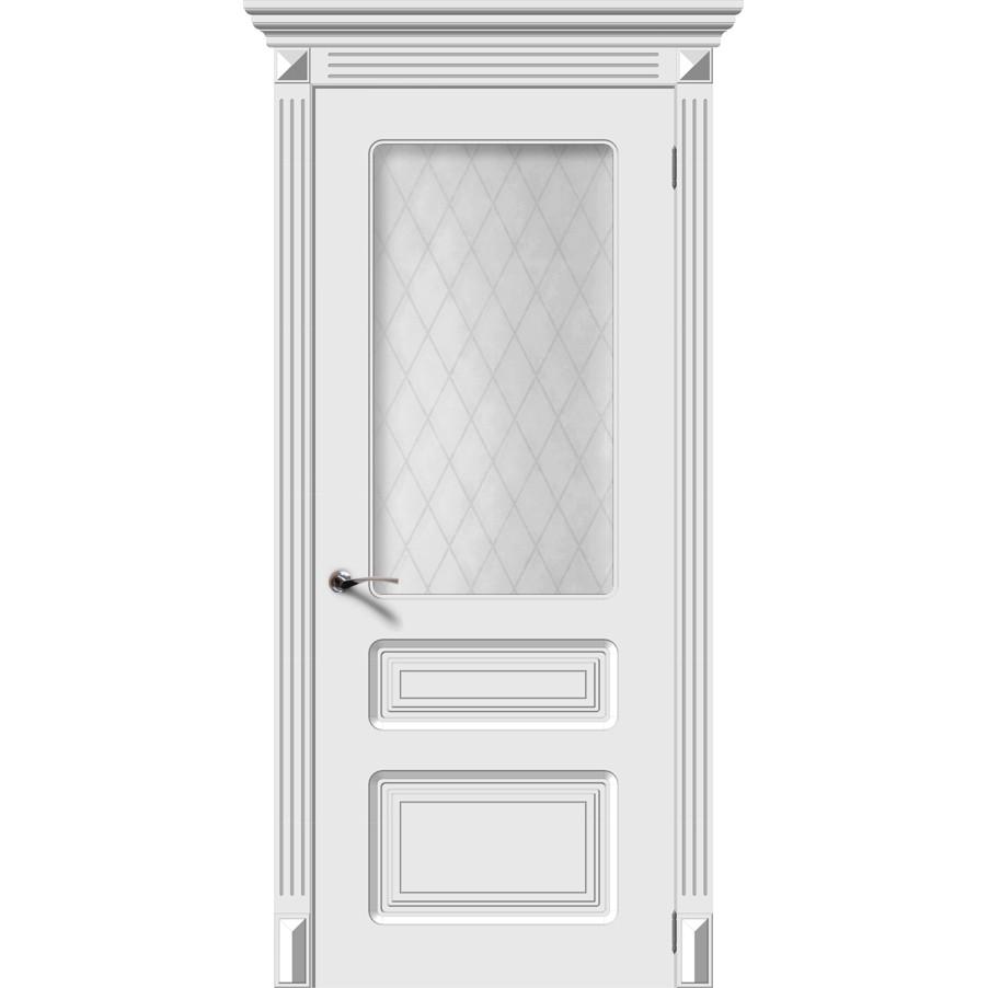 Межкомнатная дверь эмаль «Трио» (со стеклом)