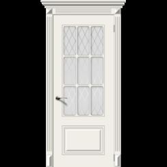 Межкомнатная дверь эмаль классика «Ноктюрн» (со стеклом)