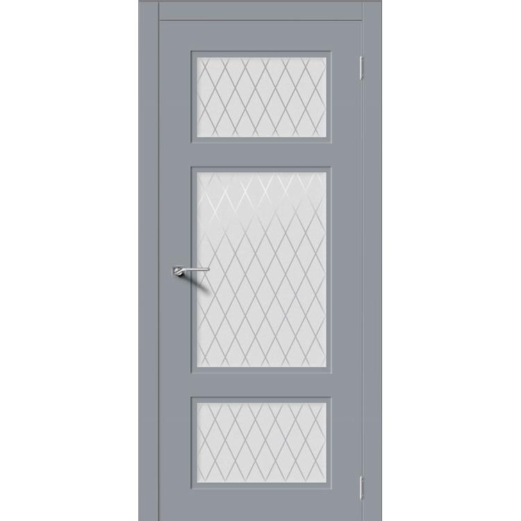 Межкомнатная дверь эмаль неоклассика «Увертюра» (со стеклом)