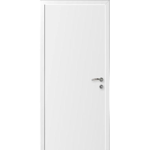 Межкомнатная белая дверь эконом класса (глухая)