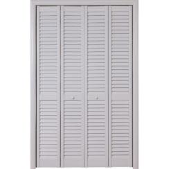 Складная жалюзийная дверь (белая)