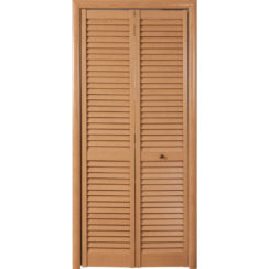 Складная жалюзийная дверь (одностворчатая)